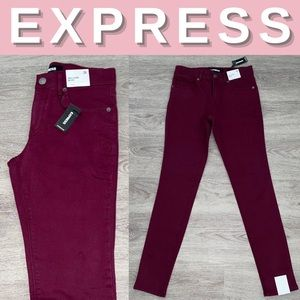 NEW Express Mid Rise Stretch Ankle Legging; 0R